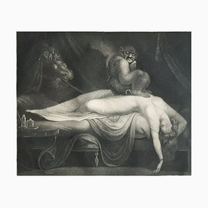 The Nightmare - Original Etching by Laurède After J.H. Fussli - 1782 1782