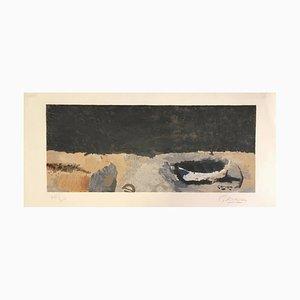La barque sur la grève - Original Lithograph by G. Braque - 1960 1960
