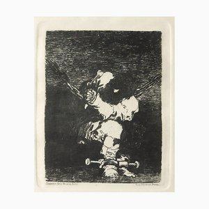 Tan Barbara la Seguridad Como el Delito - Etching by Francisco Goya - 1867 1867