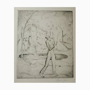 Selbstmörder - Original Etching and Drypoint by Magnus Zeller - 1919 1919