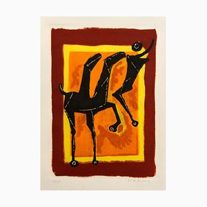 The Cry - Original Colored Etching by Marino Marini - 1950s 1950s