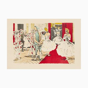 Dancers in Theatre - Original Lithograph by Maurice Brianchon 1940s-1950s