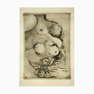 Banchetto d'Amore - Original Etching by A. Martini - 1917 1917