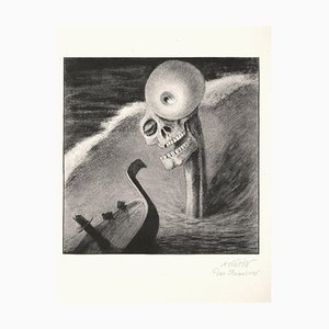 Das Grausen - Lithographie Nach A. Kubin - 1903 1922