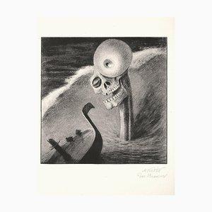 Litografía Das Grausen After A. Kubin - 1903 1922