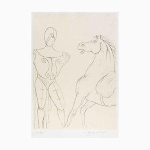 Cavallo e Trovatore - Original Etching by Giorgio De Chirico - 1969 1969