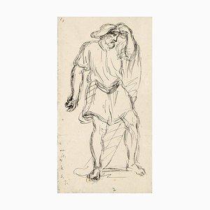 Male Figure - China Tuschezeichnung von A.-F. Cals - spätes 19. Jahrhundert spätes 19. Jahrhundert
