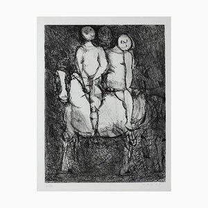 Passeggiata - Original Etching by Marino Marini - 1968 1968