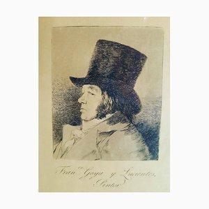 Franco Goya y Lucientes Pintor - Original Etching by Francisco Goya - 1855 1855