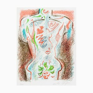 Torse Tatoué - Original Lithograph by André Masson - 1940s 1940s