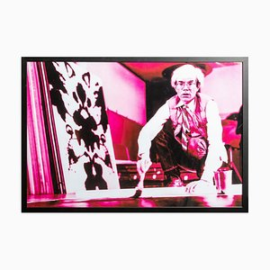 Portrait of Andy Warhol in his Studio-Violet print-toning by G. Bruneau - 1980s 1980s