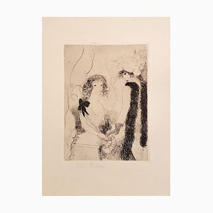 Frivolités ou la Marchande de Rubans - Original Etching by M- Laurencin - 1926 1926