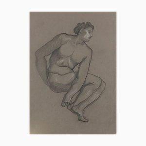 Männlicher Akt - Original Bleistift und Weiße Papierführung von L. Russolo - 1920er 1908-1909