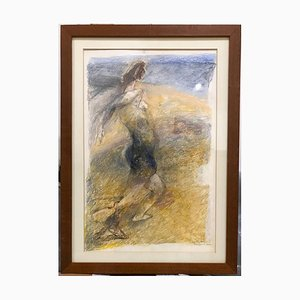 Moonlight - Original Pastel Drawing by Ennio Calabria - Late 20th Century Late 20th Century