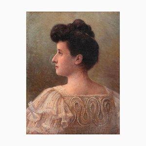 Selfportrait - Original Öl auf Leinwand von Corinna Modigliani - 1915 1915