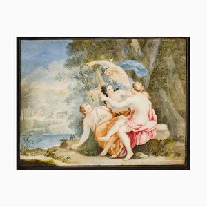 Mercury And The Nymphs - Original Oil on Board - 18th Century 18th Century