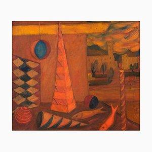 Il Paese dei Balocchi - Olio su tela, metà XX secolo, metà XX secolo