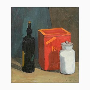 Still Life - Original Öl auf Platte von E. Casali Ricchi - 1951 1951