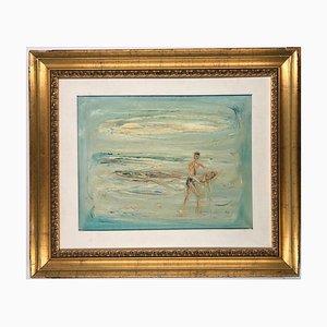 The Fisherman - Original Öl auf Leinwand von Giovanni Stradone - 1962 1962