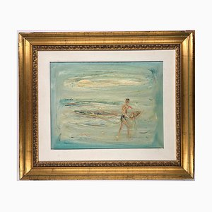 The Fisherman - Original Oil on Canvas by Giovanni Stradone - 1962 1962