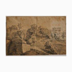 Rome, The Countryside- Original China Tuschezeichnung von Jan Pieter Verdussen - 1742 1742
