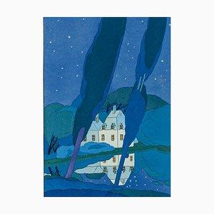 Landscape - Original Pouchoir by Leonardo Brunelleschi - 1920 1920