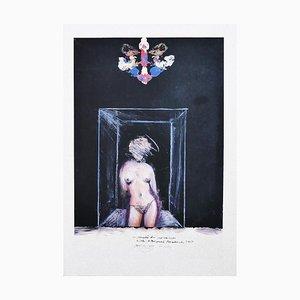 Nude - Original Drawing by Sergio Barletta - 1974 1974