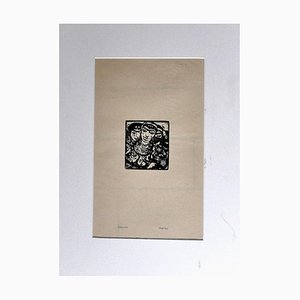 Arabian Women - Original Woodcut by Moses Levy - XX Secolo