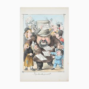 One at a Time - Lithograph by A. Maganaro - 1872 1872