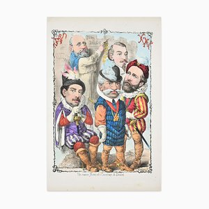 New Moses and Knights of the Right - Lithograph by A. Maganaro - 1872 1872