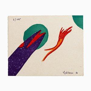 Composition - Original Lithograph de Eugène Ionesco - 1970 1970