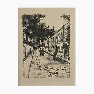 Lithographie The Walk - Original par M. Utrillo - 1927 1927