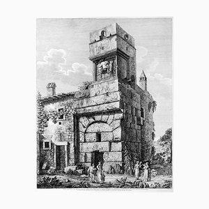 Veduta degl'Avanzi del Maestoso Ingresso della Villa d'Adriano 1826
