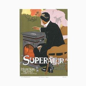 Superato- Vintage Adv Lithographie von L. Metlicovitz - 1914 1914