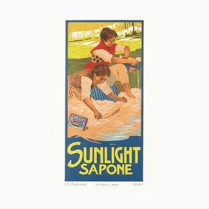 Sunlight Sapone - Vintage Adv Lithografie von L. Metlicovitz - 1900 ca. Ca. 1900