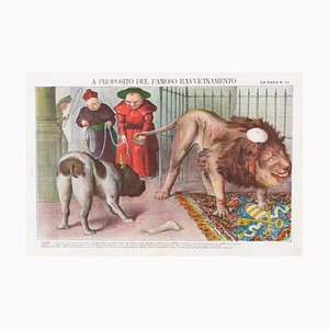 About The Famous Reconciliation - Lithograph by Augusto Grossi - 1860s 1860s
