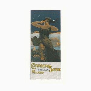 Corriere della Sera - Original Advertising Lithograph by G. Beltrami - 1910 1910