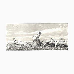 Centina inseguita - Incisione originale e acquatinta di Max Klinger - 1881 1881