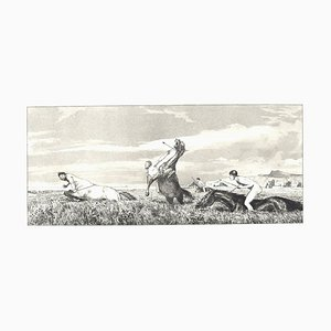 Chased Centaur - Original Radierung und Aquatinta von Max Klinger - 1881 1881