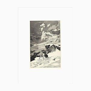 Fight Between Centaurs - Original Radierung und Aquatinta von Max Klinger - 1881 1881