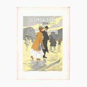 Loden Dal Brun - Vintage Advertising Lithographie von Achille Beltrame - ca. 1910 Ca. 1910
