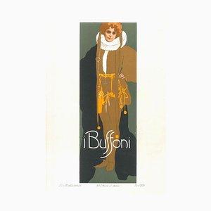I Buffoni - Vintage Adv Lithograph by L. Metlicovitz - 1914 1914