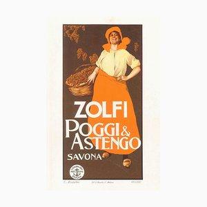Zolfi - Original Lithographie von GE Malerba - 1905 Ca. 1905