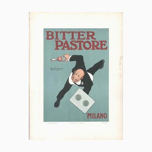 Bitter Pastore - Original Advertising Lithograph by L. Caldanzano - 1910 1910