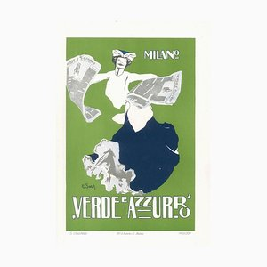 Verde e Azzurro - Original Advertising Lithograph by E. Sacchetti - 1914 ca. 1914 ca.