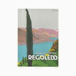 Grand Hotel Rogoledo - Original Lithographie von E. Sacchetti -1914 Ca. 1914