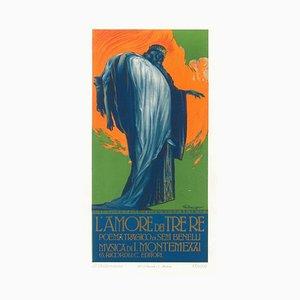 L'Amore dei Tre Re - Original Advertising Lithograph by L. Caldanzano - 1913 1913