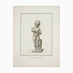 Amore Scherza - Original Radierung von GB da Ravenna nach Bernardino Nocchi 1821