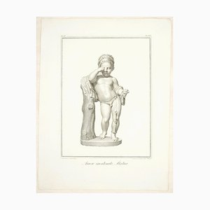Sculpture of Cupid Chained - Original Etching by F. Cecchini - 1821 1821