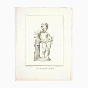 Sculpture of Cupid Chained - Original Radierung von F. Cecchini - 1821 1821
